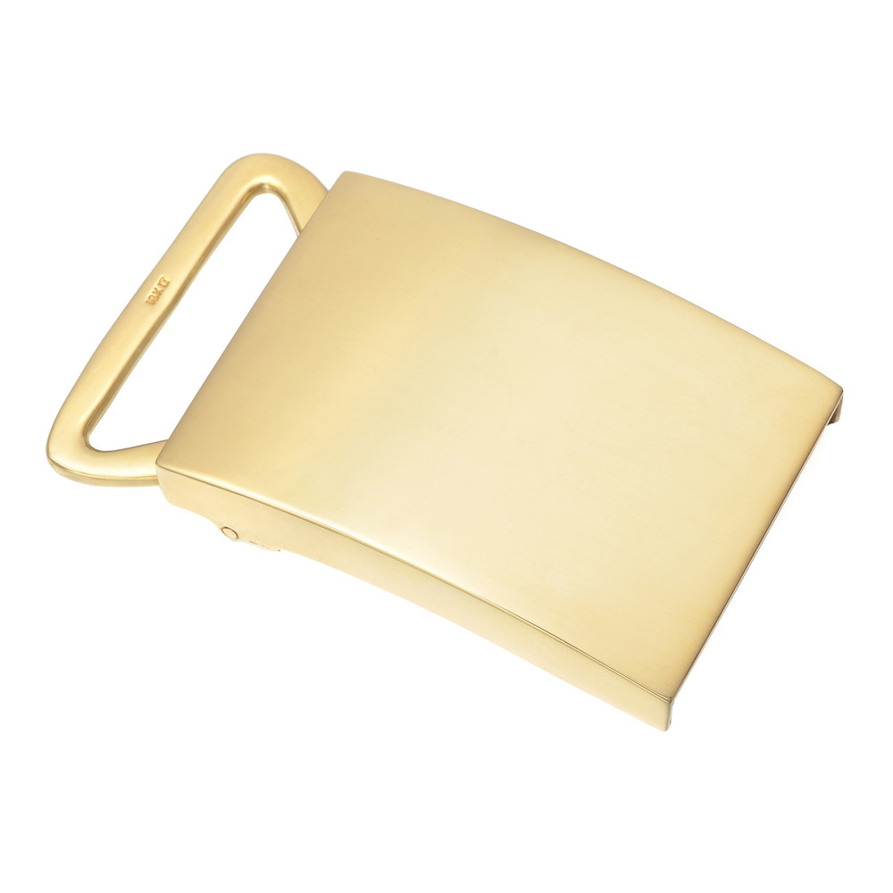 18k Yellow Gold Slide Belt Buckle