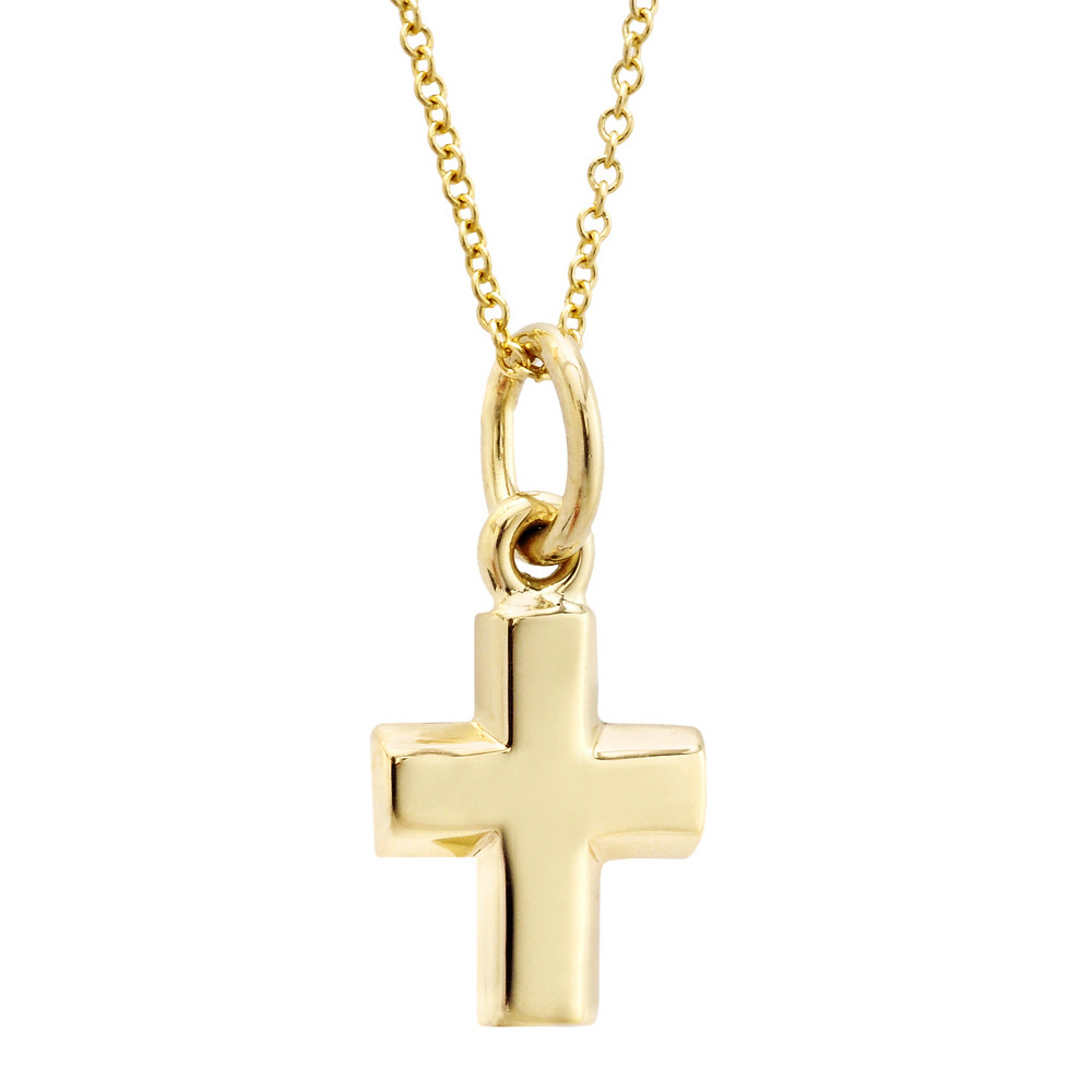 Small 14k Yellow Gold Cross Pendant