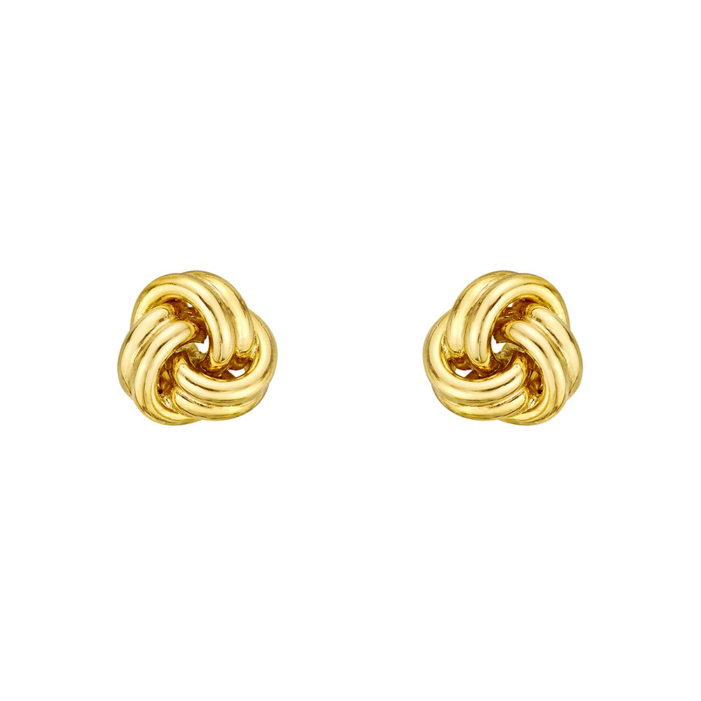 Small 18k Yellow Gold Knot Earstuds