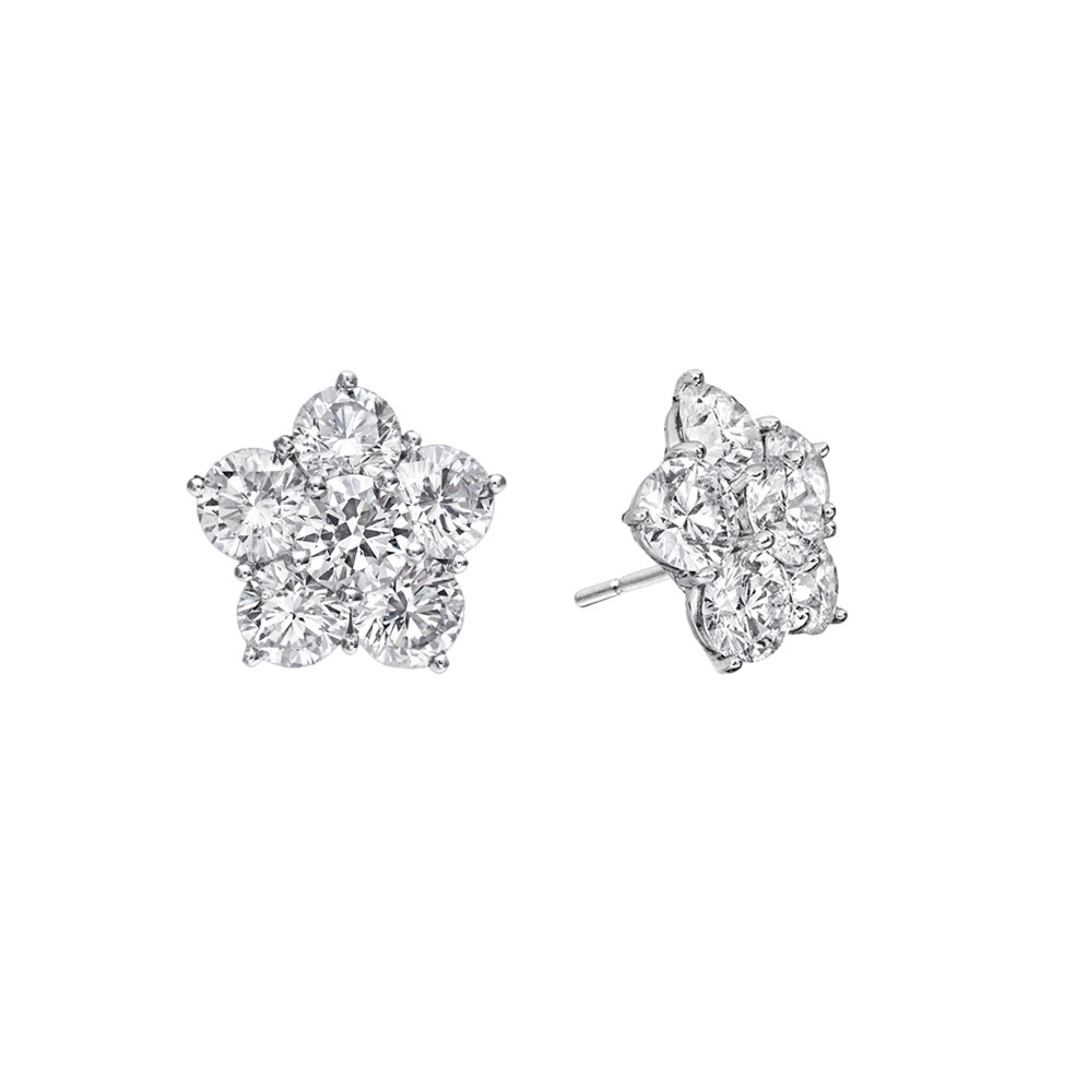 "Small Diamond ""Astra"" Stud Earrings (1.48 ct tw)"