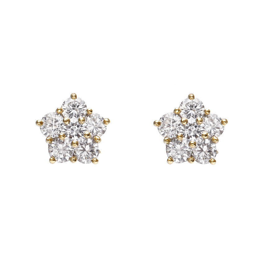 "Small Diamond ""Astra"" Stud Earrings (~1.6 ct tw)"