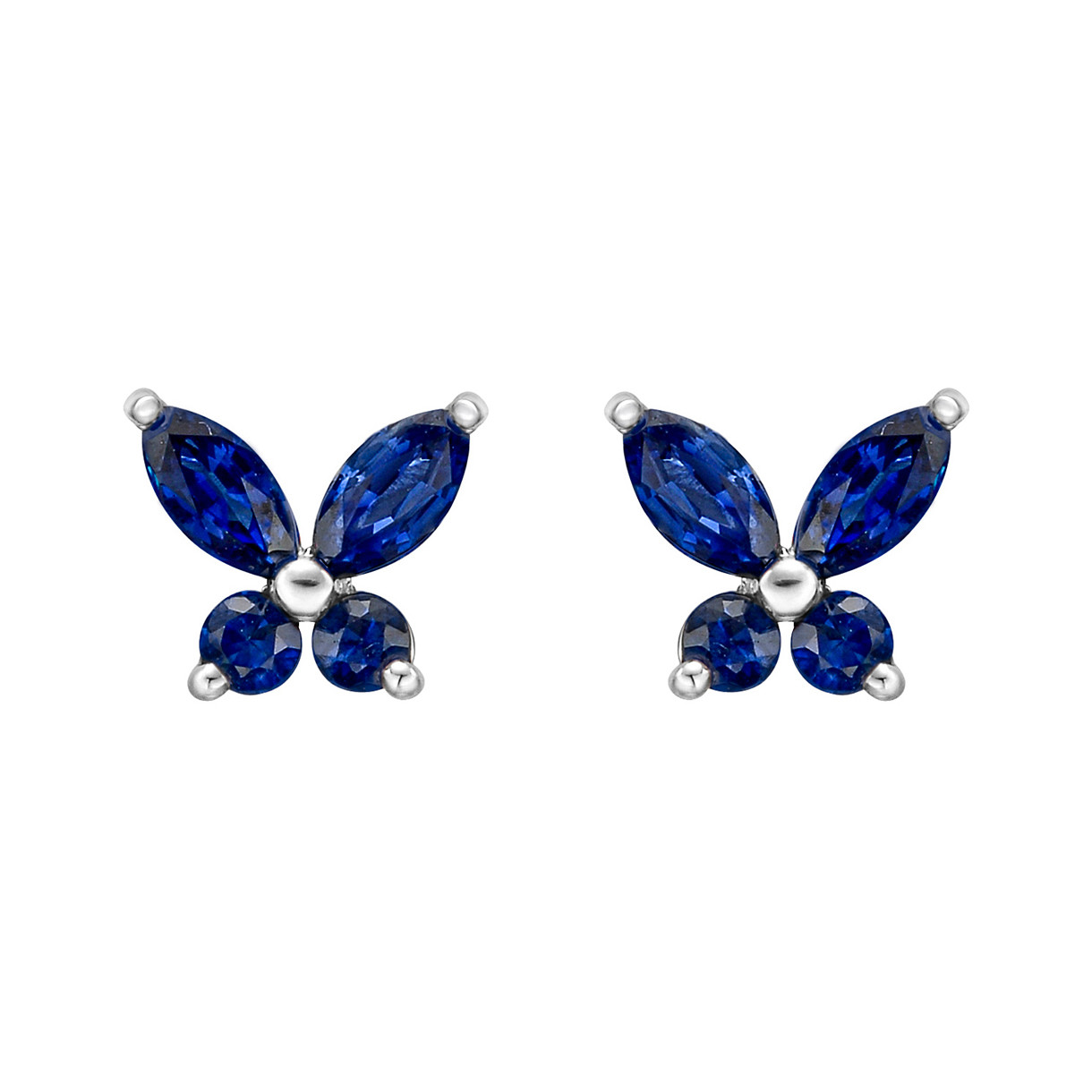 Small Sapphire Butterfly Stud Earrings