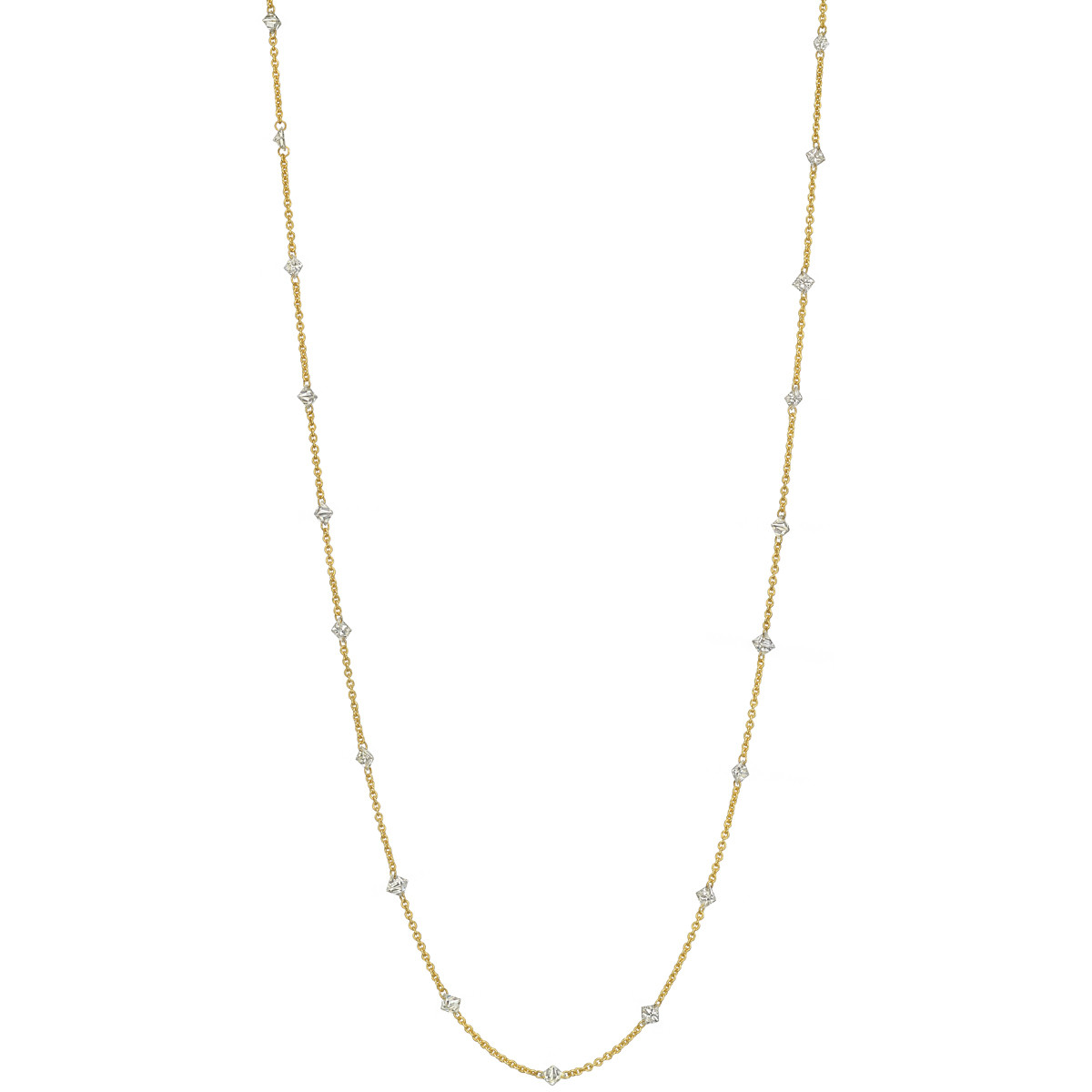 Square-Cut Diamond Chain Necklace (2.35 ct tw)