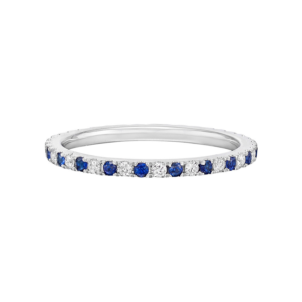 Thin Sapphire & Diamond Eternity Band