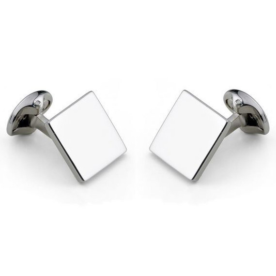 Sterling Silver Plain Square Cufflinks