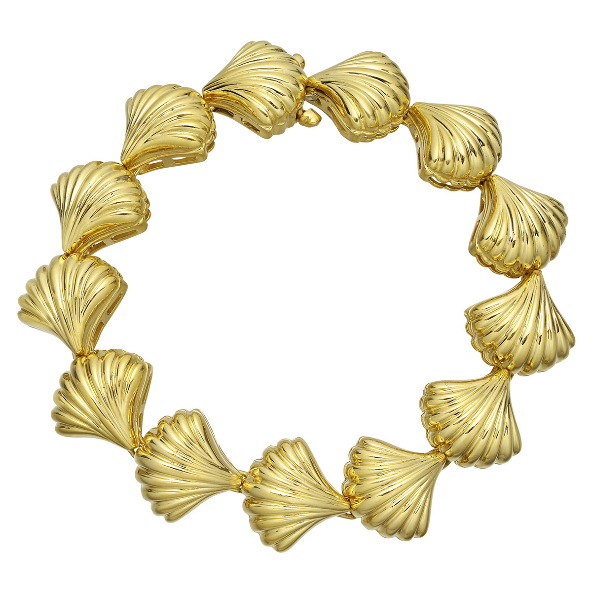 Tambetti 18k Yellow Gold Shell Link Bracelet