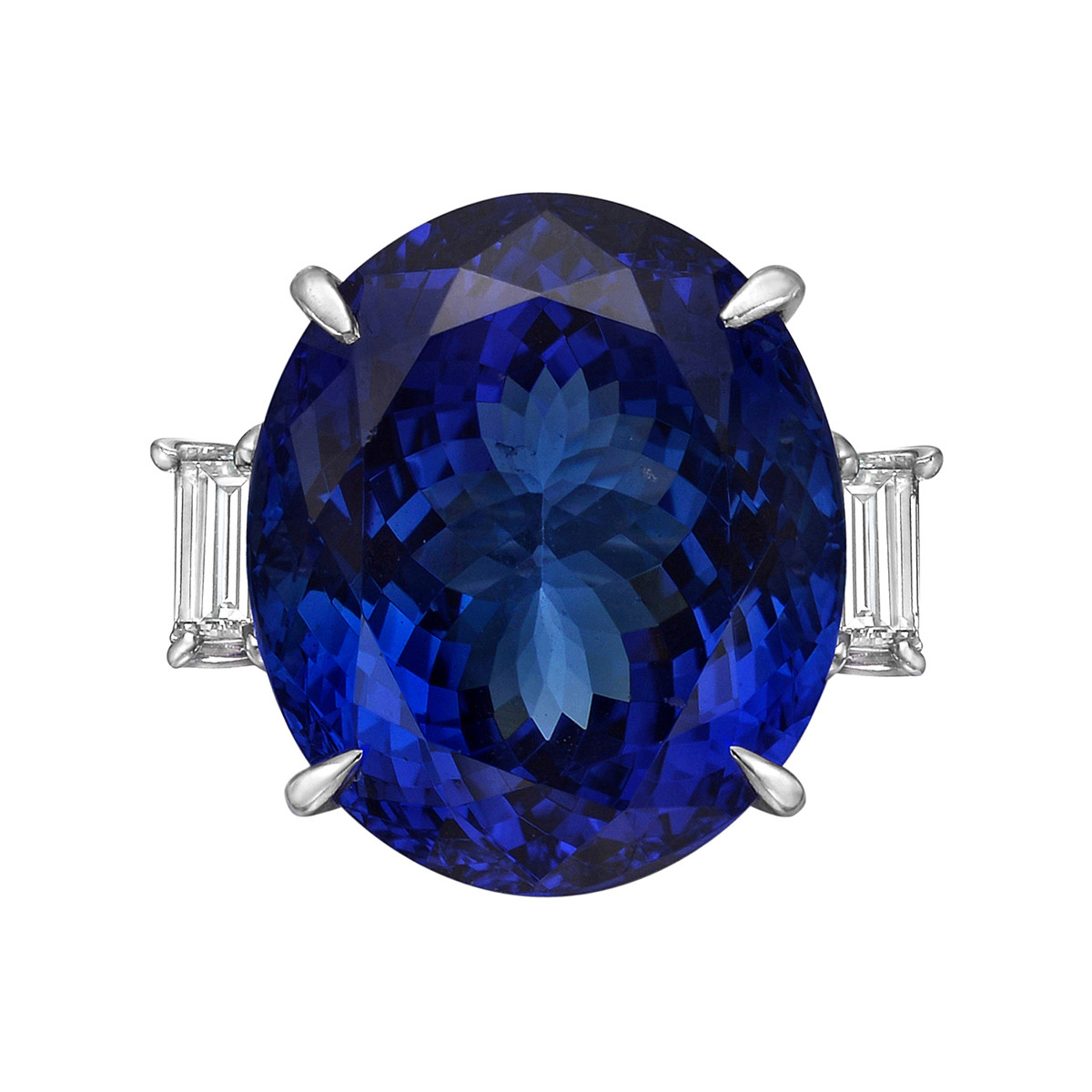 23.17 Carat Tanzanite & Diamond Ring