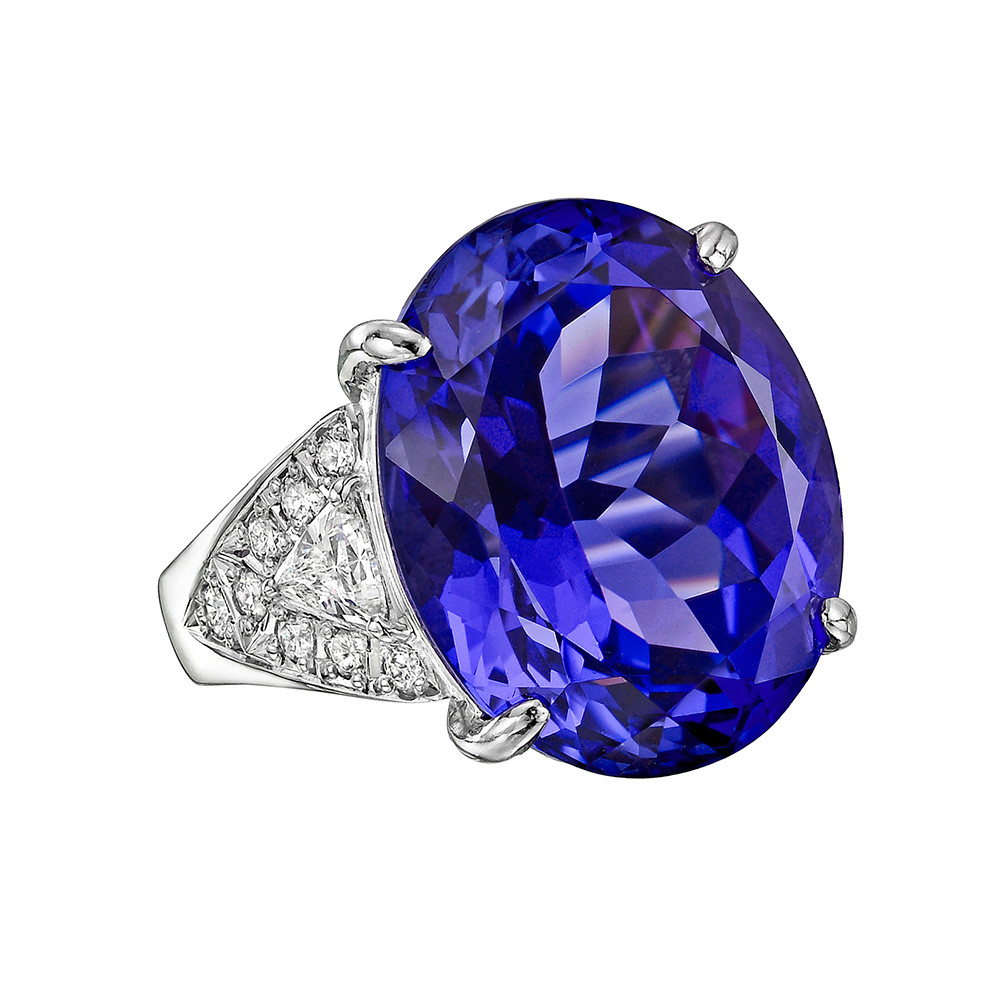 24.57ct Tanzanite & Diamond Cocktail Ring