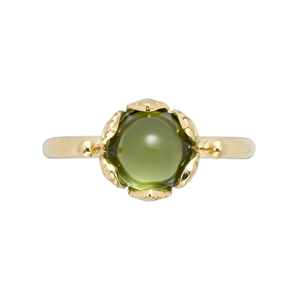 "18k Yellow Gold & Peridot ""Arcadia"" Stack Ring"