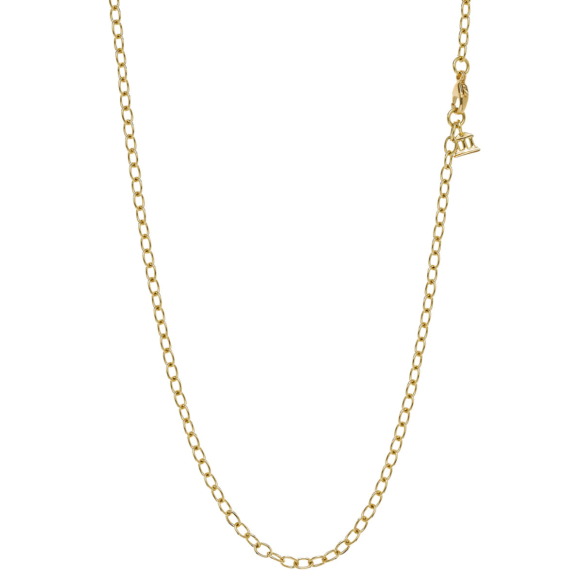 """18k Yellow Gold Oval Chain Necklace (32"""")"""
