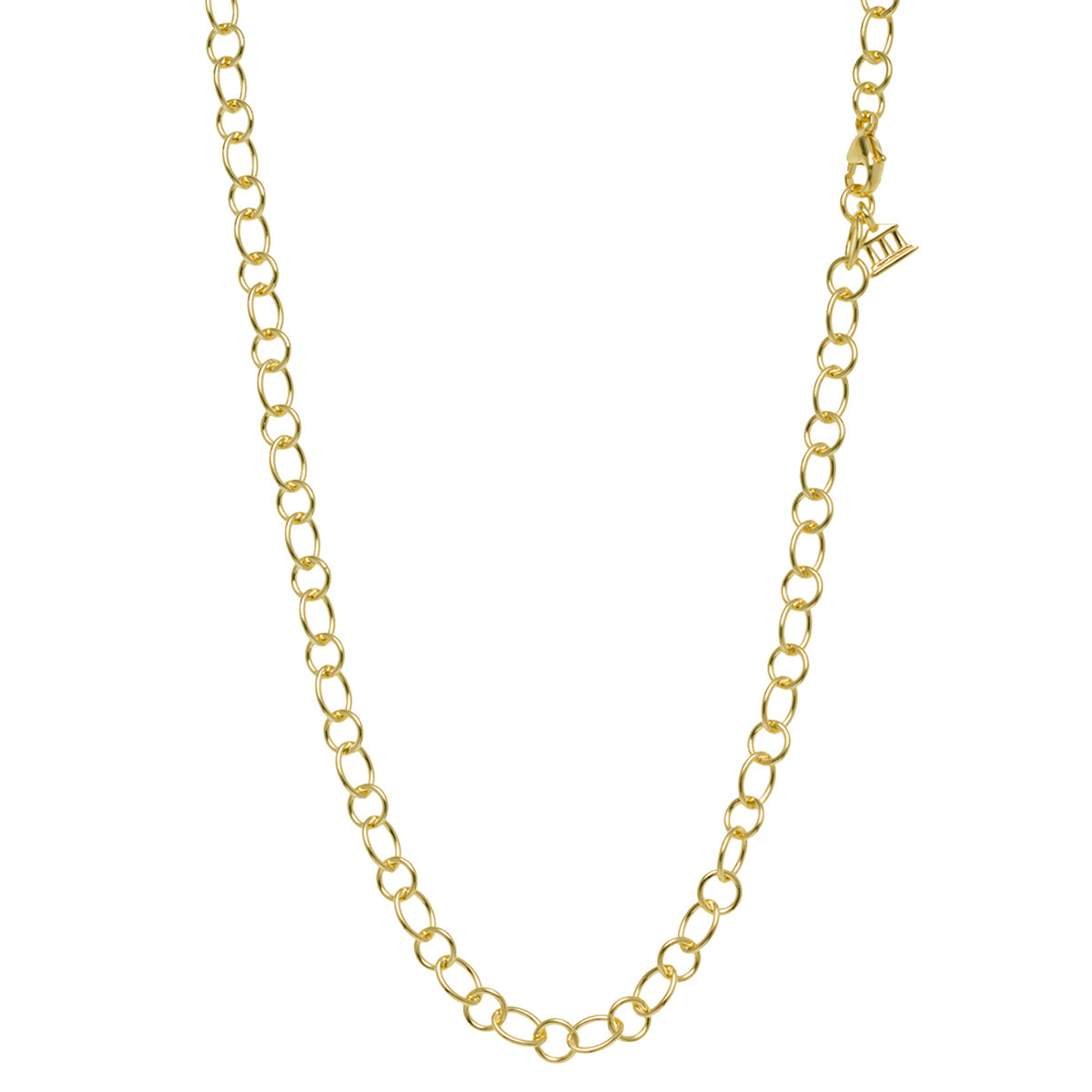 "18k Yellow Gold ""Ribbon"" Chain Necklace (24"")"