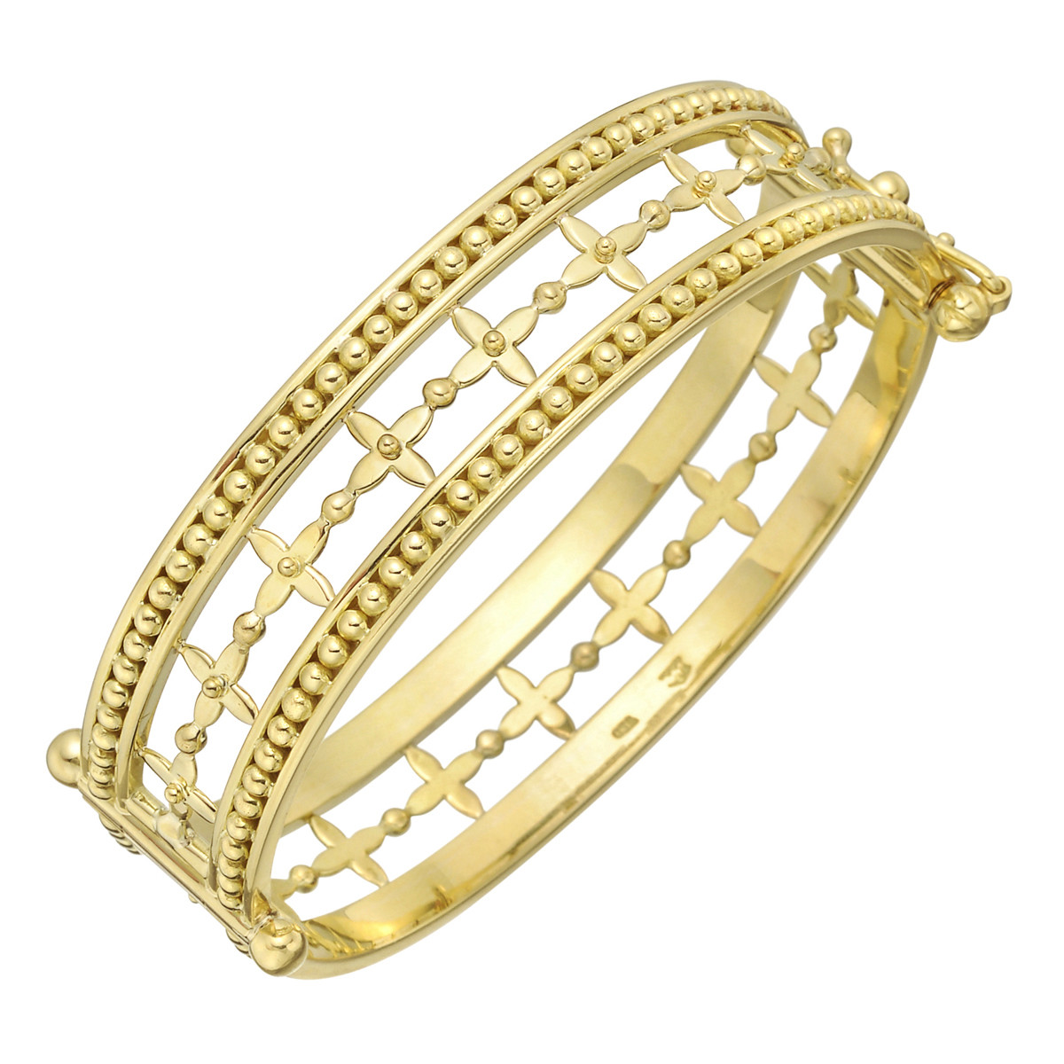 18k Yellow Gold Vine Cuff Bracelet
