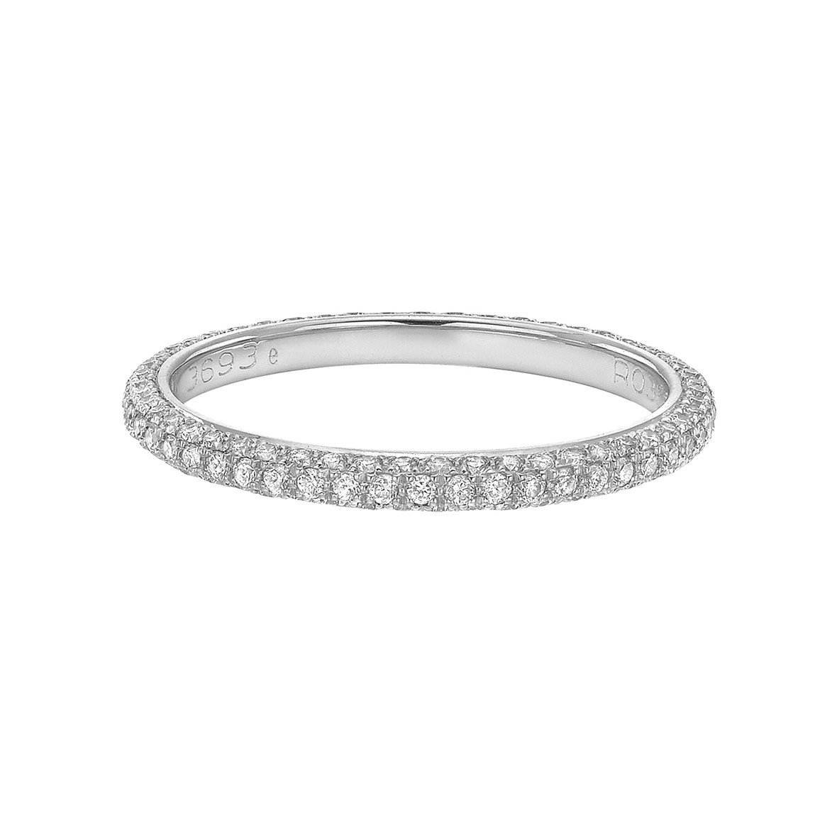 Thin 3-Row Diamond Eternity Band (0.55 ct tw)