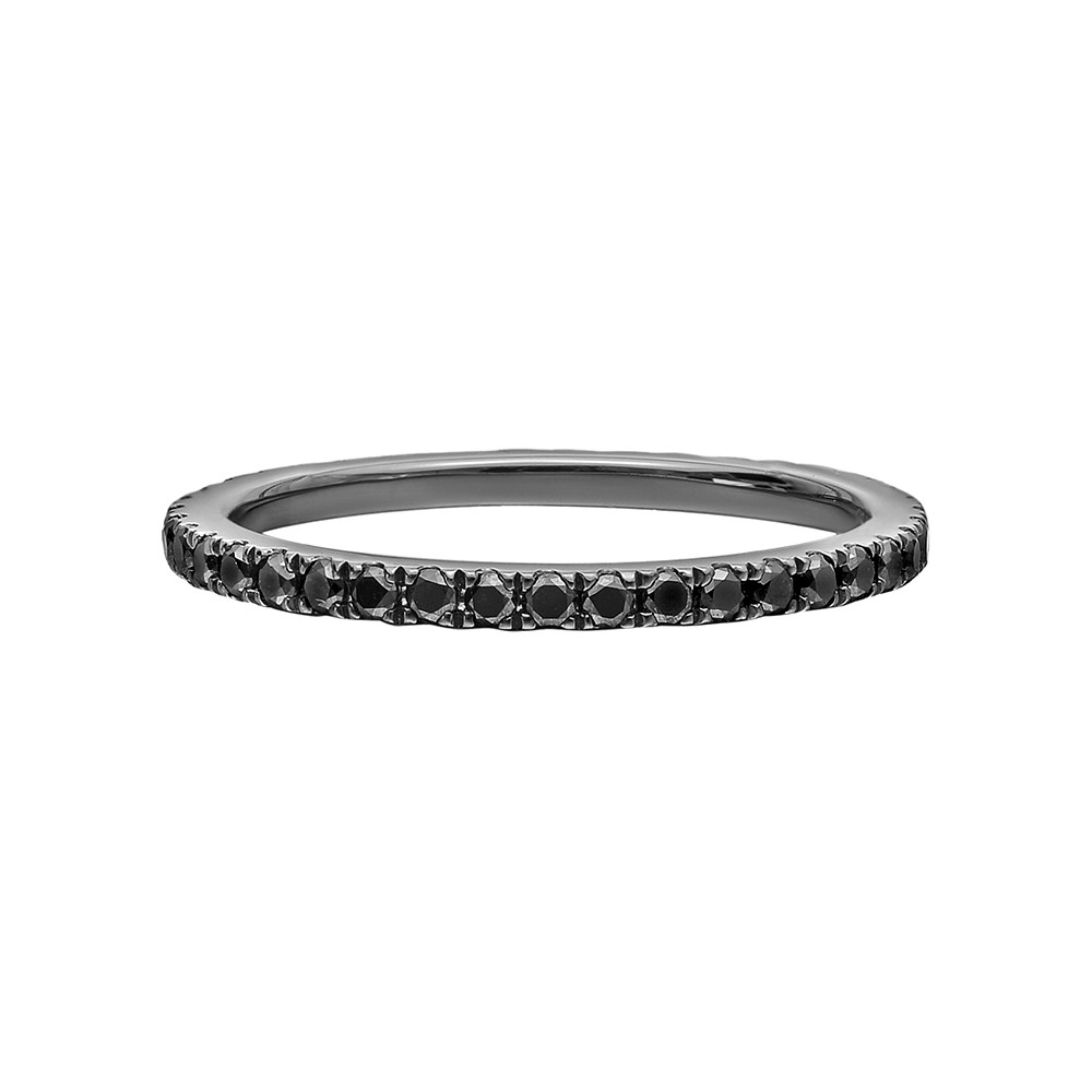 Thin Black Diamond Eternity Band (0.45ct tw)