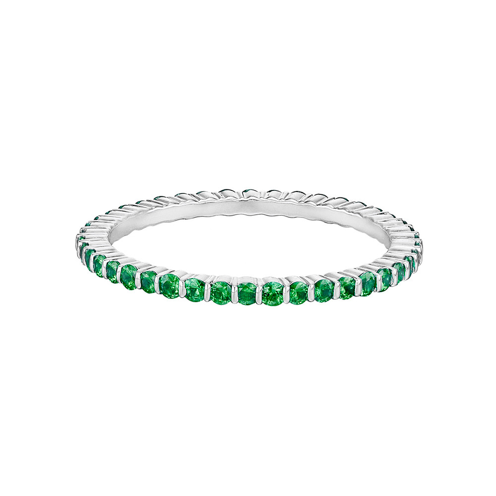 Thin Emerald Eternity Band