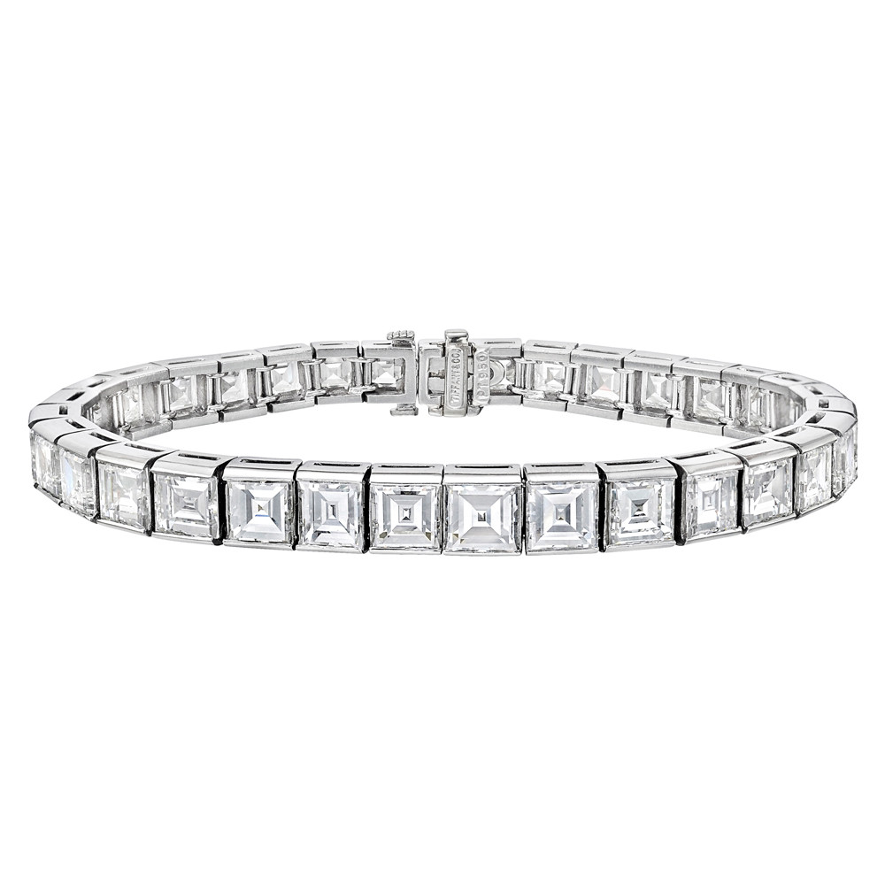 6862098f7 Tiffany Square-Cut Diamond Line Bracelet (~25 ct tw) | Betteridge