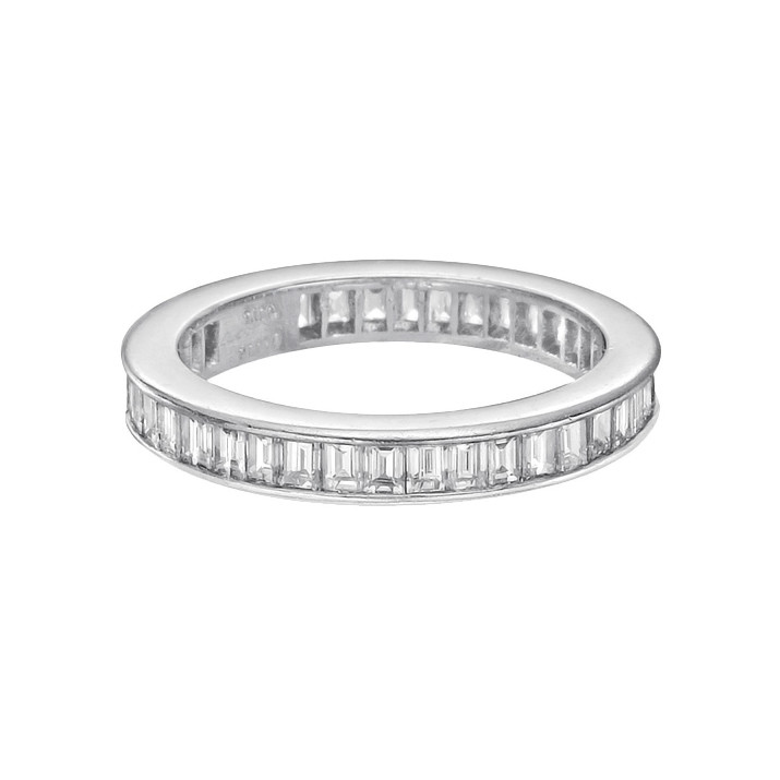 collection band fancy bands raphael rings diamond baguette ring set eternity platinum half cut