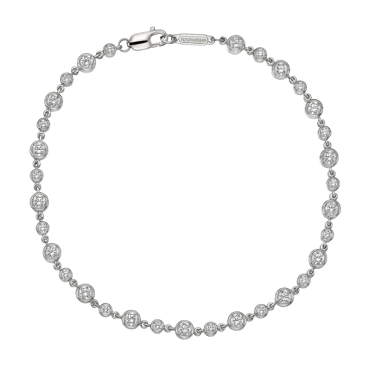 Bezel-Set Round Diamond Chain Bracelet