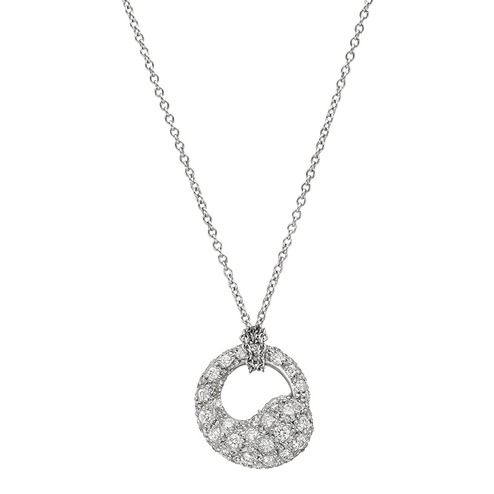 Estate tiffany co pav diamond elsa peretti eternal circle pav diamond elsa peretti eternal circle pendant mozeypictures Choice Image
