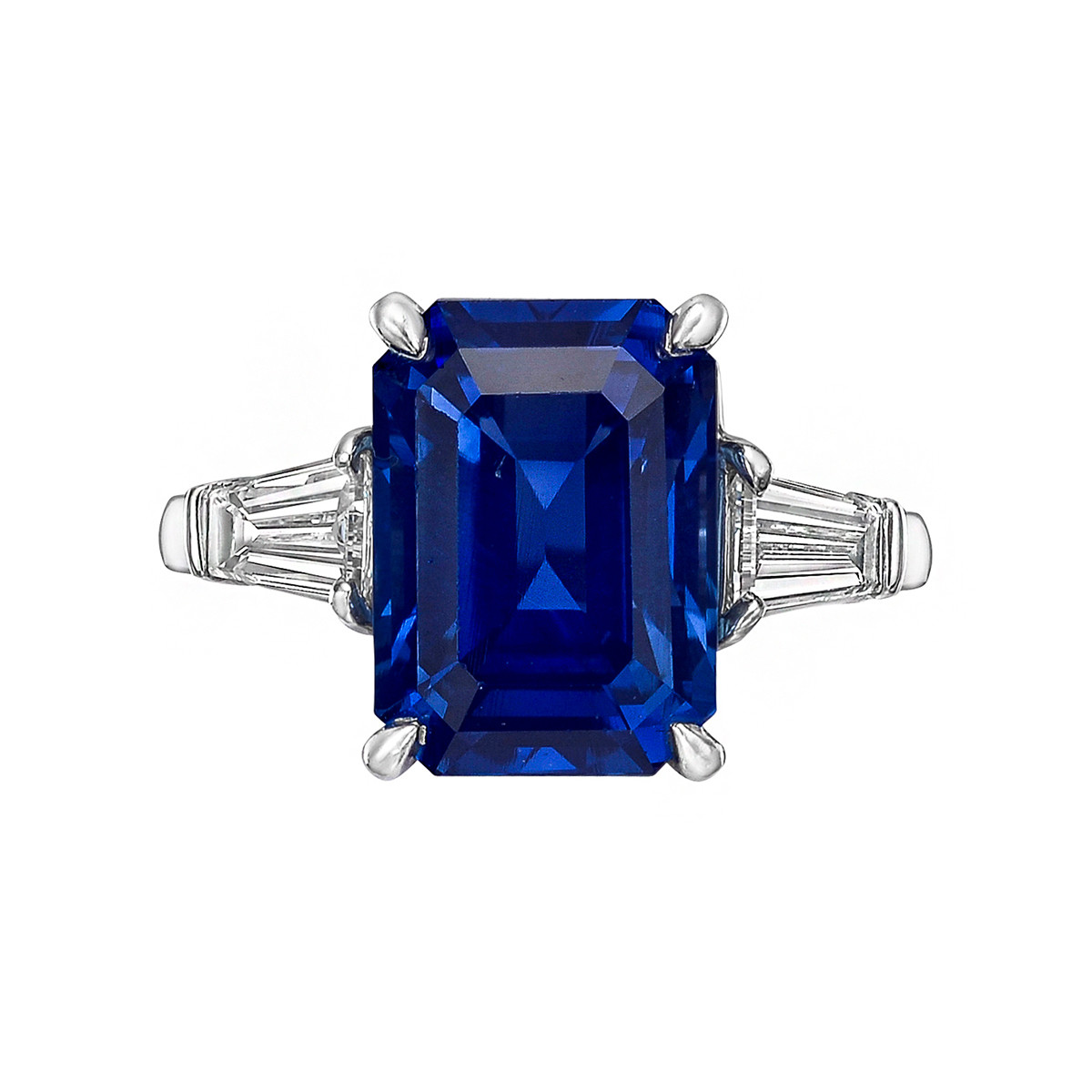 7.59ct No-Heat Sapphire & Diamond Ring