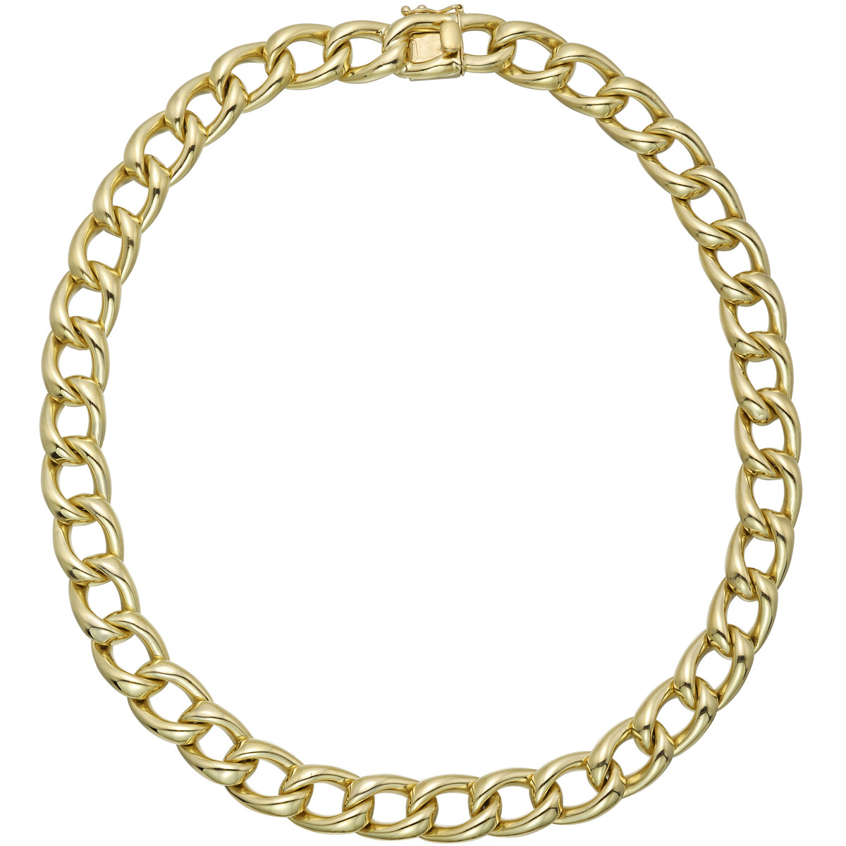 14k Yellow Gold Curb-Link Necklace
