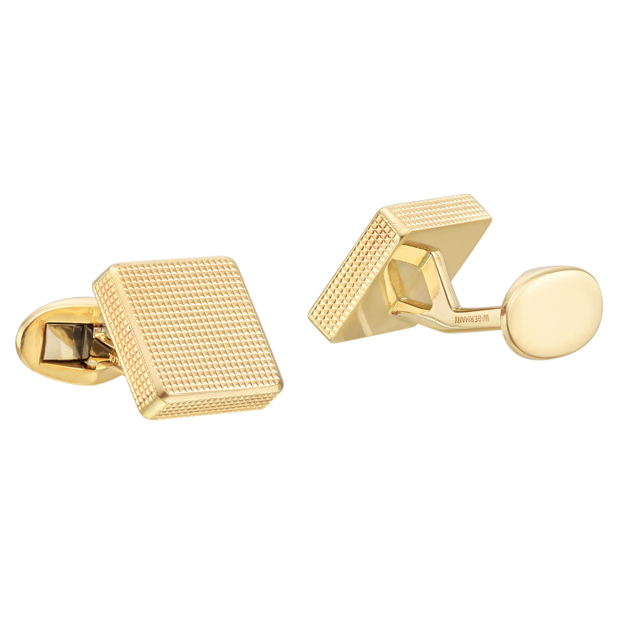 18k Yellow Gold Square Cufflinks