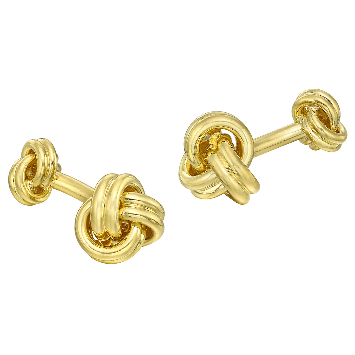 18k Yellow Gold Triple Knot Cufflinks
