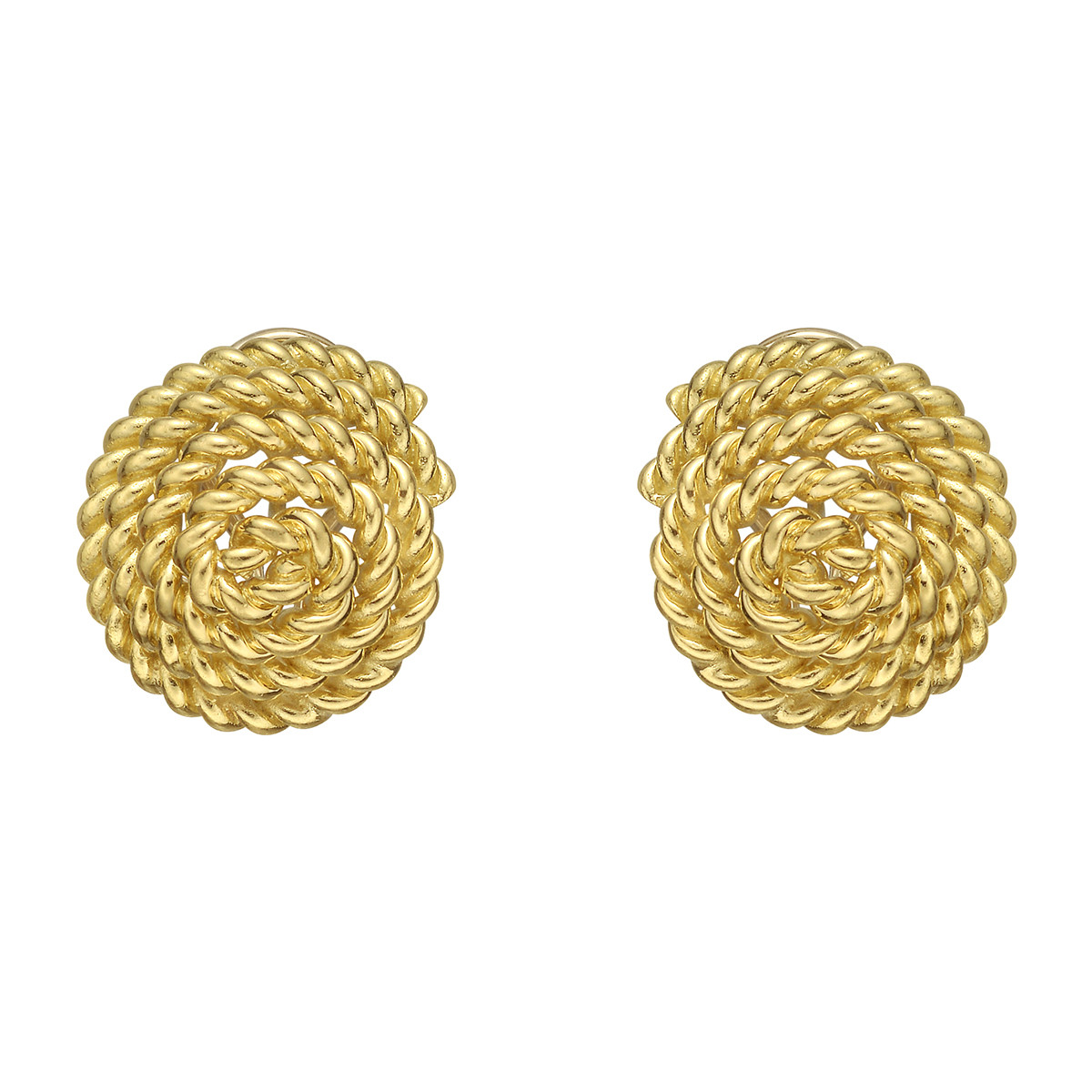 18k Yellow Gold Twistwire Spiral Earrings