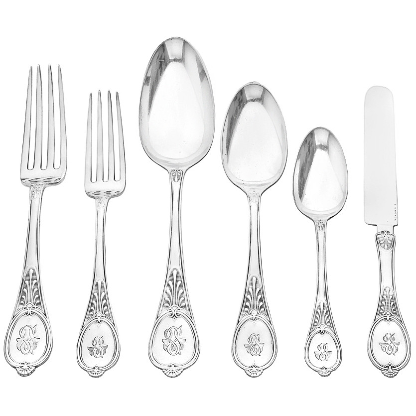 Estate Tiffany Amp Co Antique Silver Quot Honeysuckle Quot Flatware