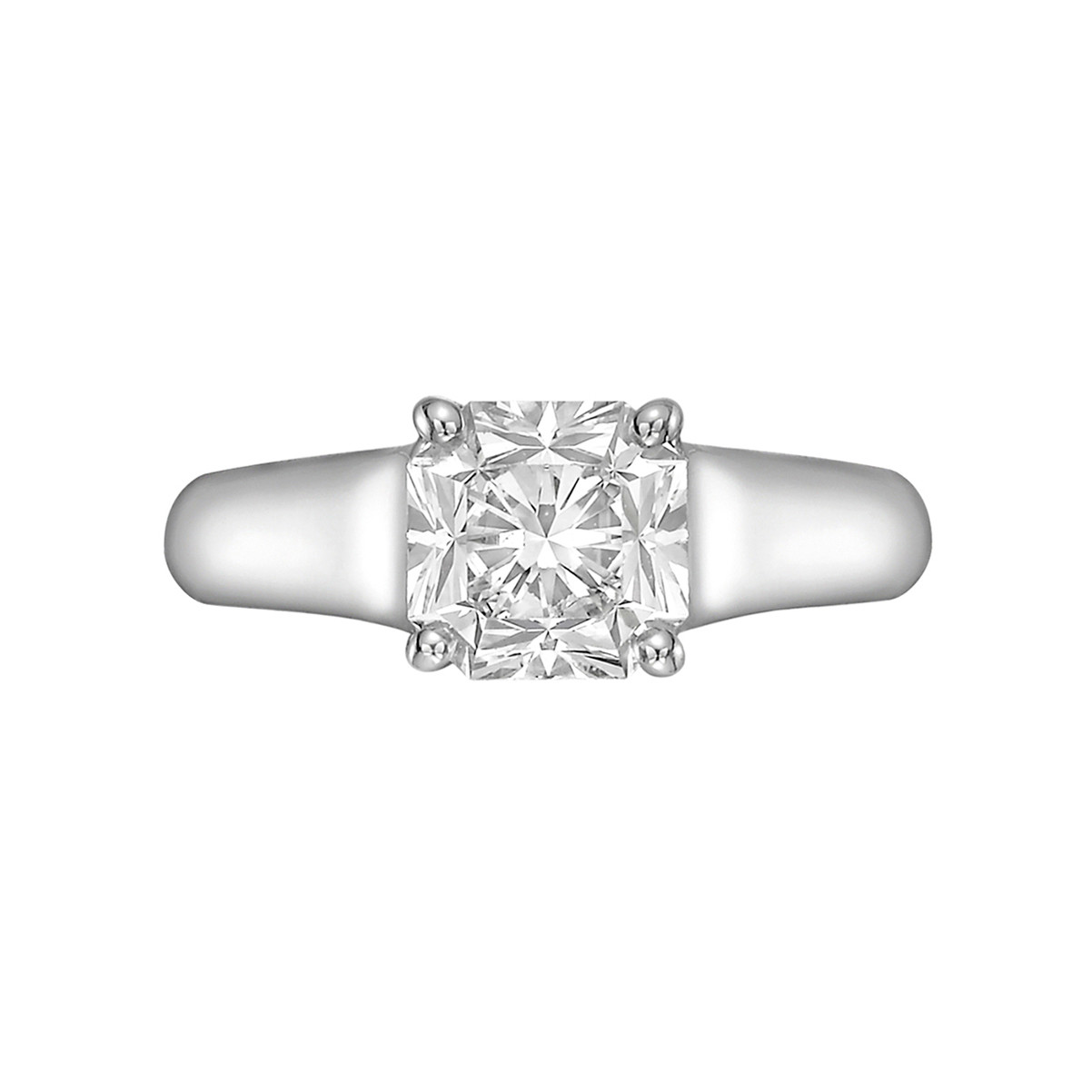 37f022039 Diamond solitaire engagement ring, centering a colorless 1.41 carat