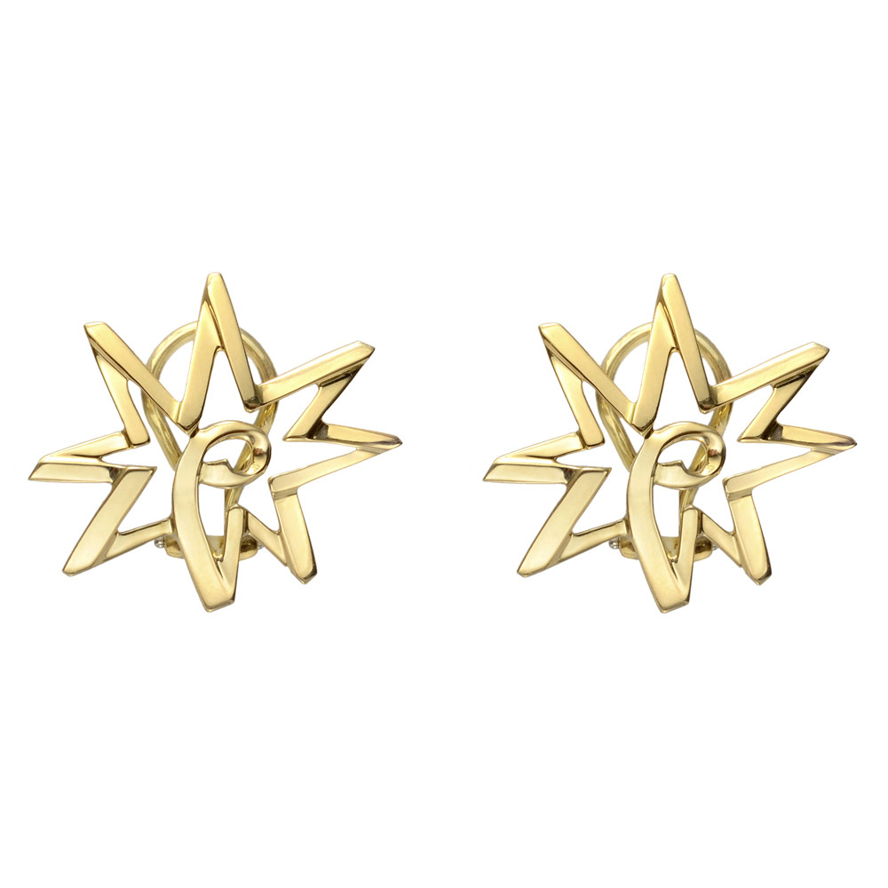 Paloma Picasso 18k Yellow Gold Star Earrings