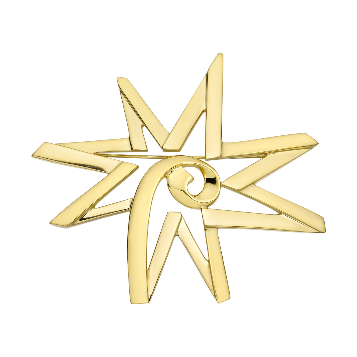 Paloma Picasso 18k Yellow Gold Star Pin