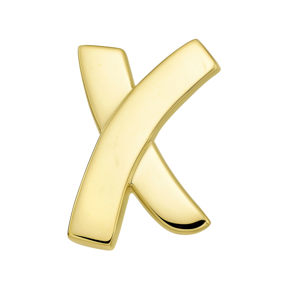 Paloma Picasso Large 18k Yellow Gold 'X' Pin