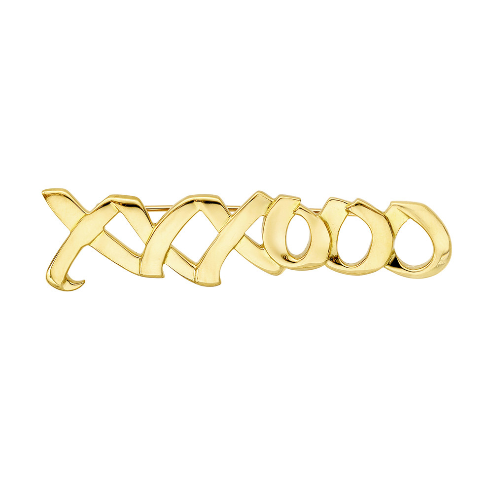 b3f385219 'XOXO' motif bar pin, in polished 18k yellow gold, circa 1983, signed Paloma  Picasso/Tiffany & Co. 2.1