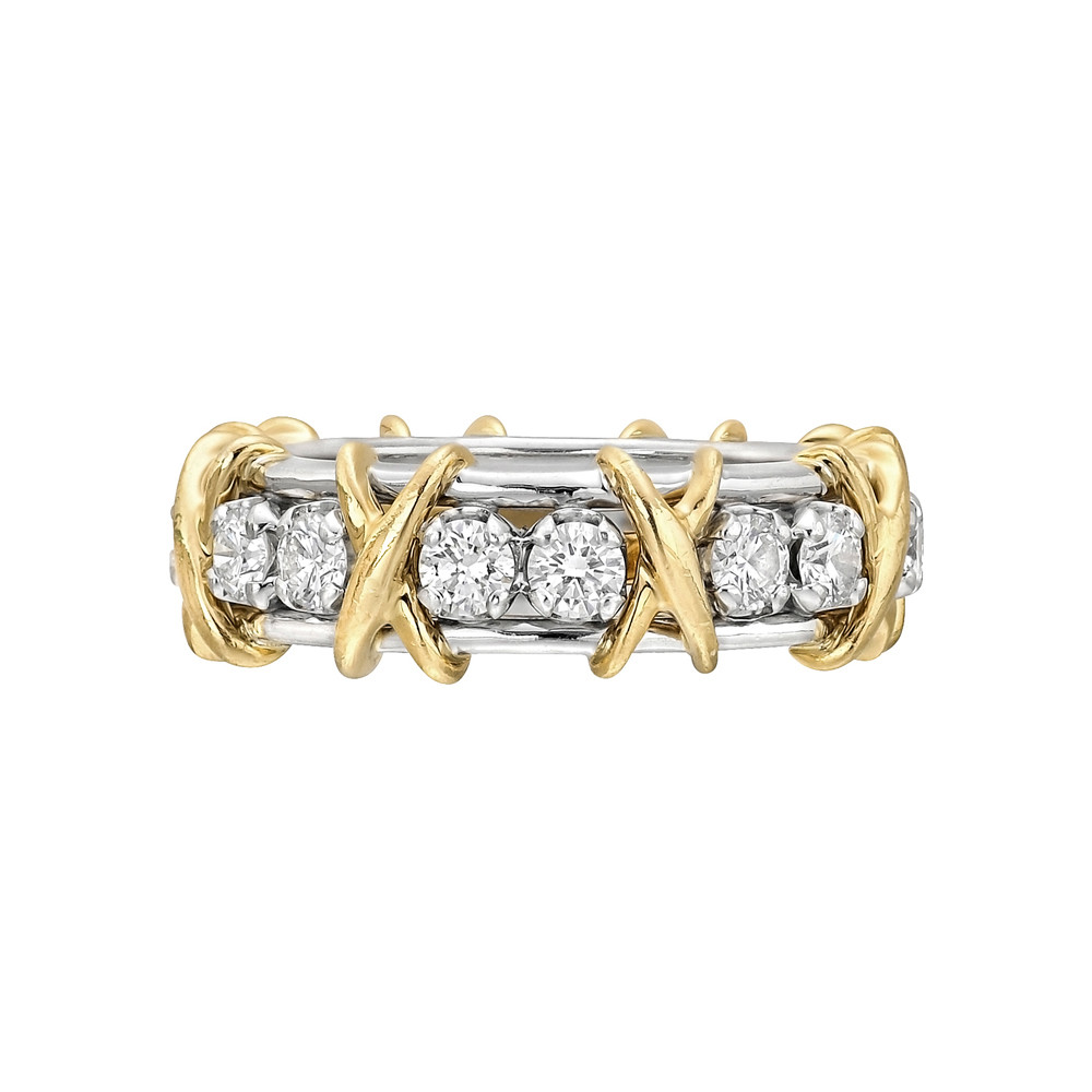 "Schlumberger Diamond ""16 Stone"" Band Ring"