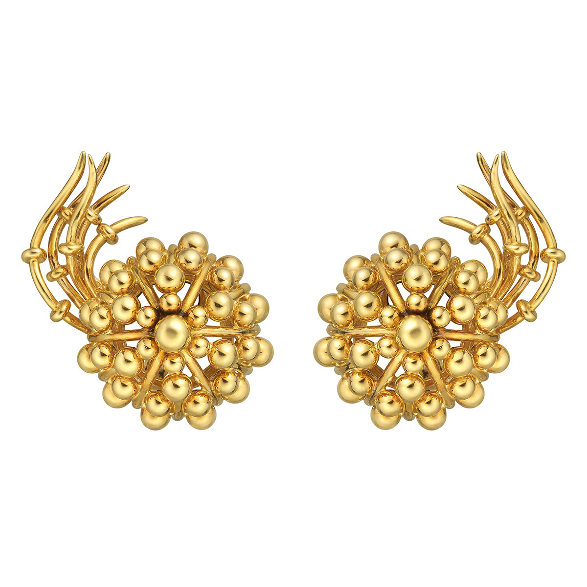 Schlumberger 18k Yellow Gold Comet Earrings