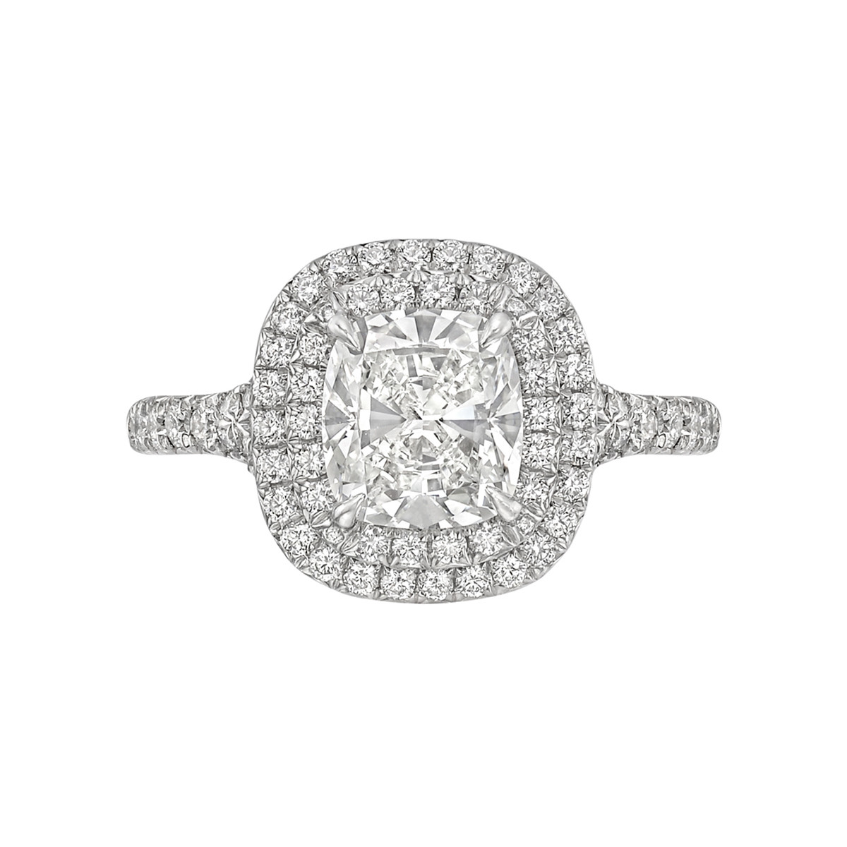 "1.32ct Cushion-Cut Diamond ""Soleste"" Ring"