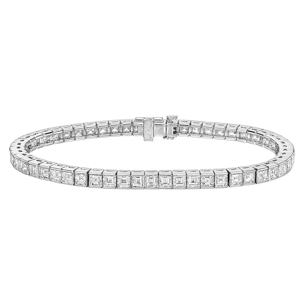 1afb2eaab Estate Tiffany & Co. Square-Cut Diamond Line Bracelet (~4.8 ct tw ...