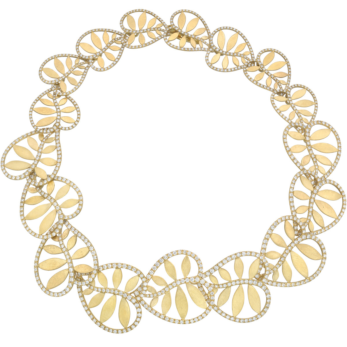 "18k Yellow Gold & Diamond ""Villa Paloma"" Necklace"