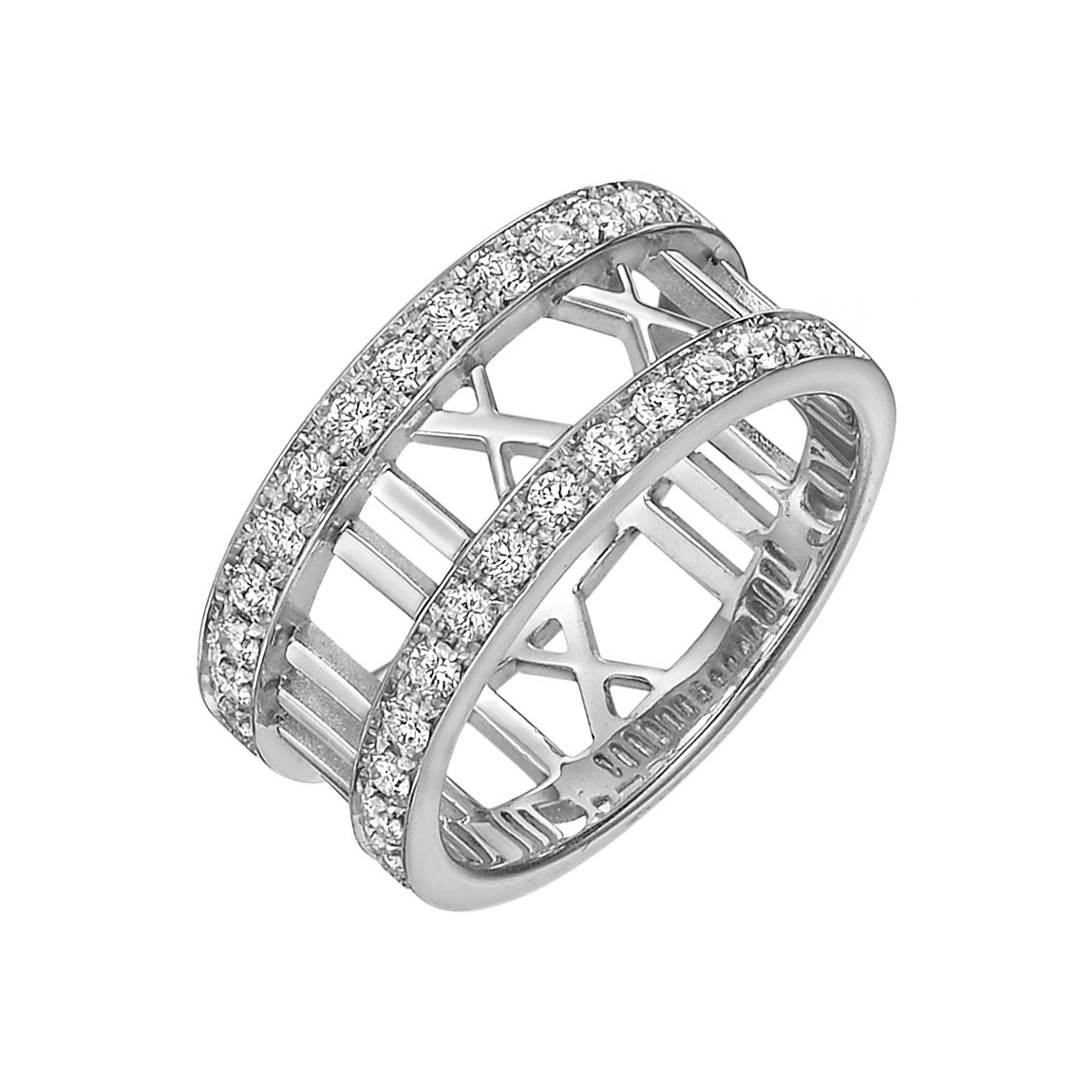 "18k White Gold & Diamond ""Atlas"" Band Ring"