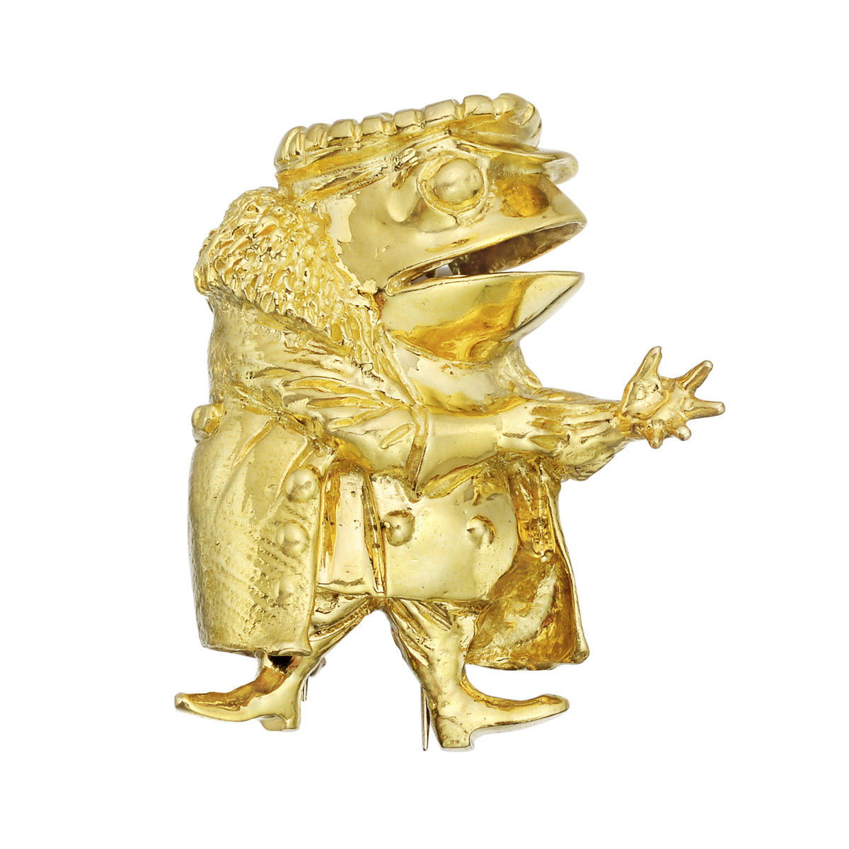 18k Yellow Gold 'Mr. Toad' Pin