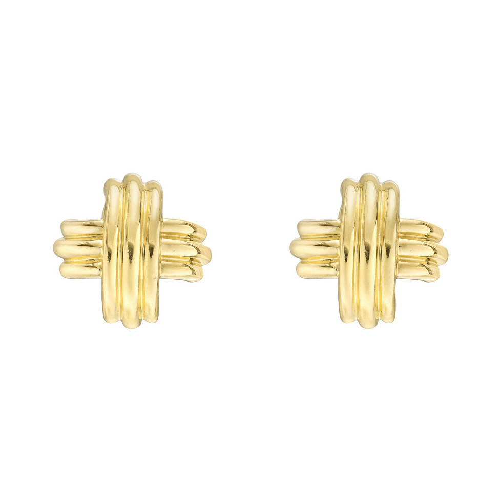 Medium 18k Yellow Gold Signature 'X' Earclips