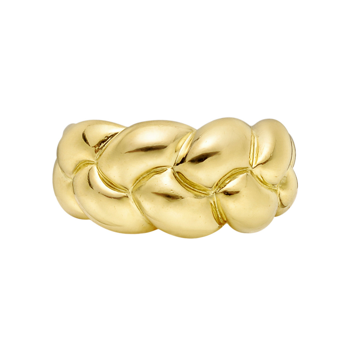 18k Yellow Gold Braided Band Ring