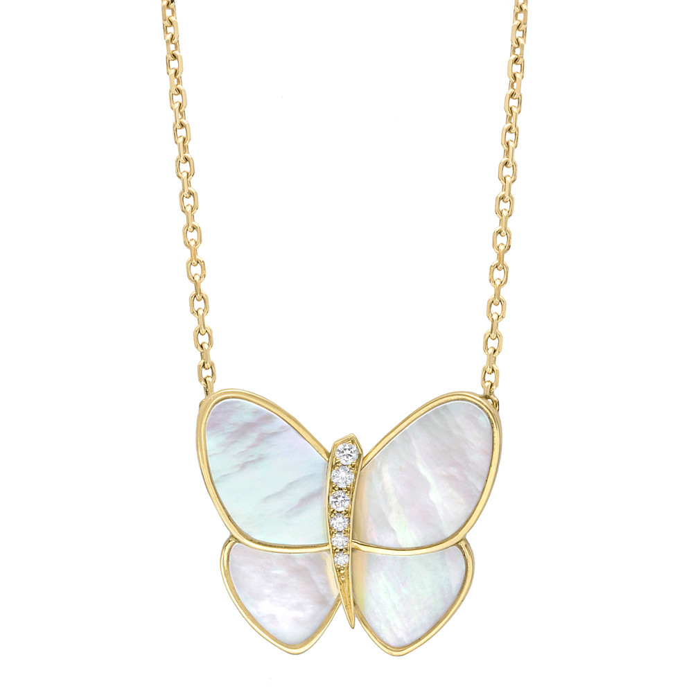 Van cleef arpels papillon pendant on chain betteridge butterfly pendant is approximately 09 in length and 09 in width numbered and signed by van cleef arpels aloadofball Image collections