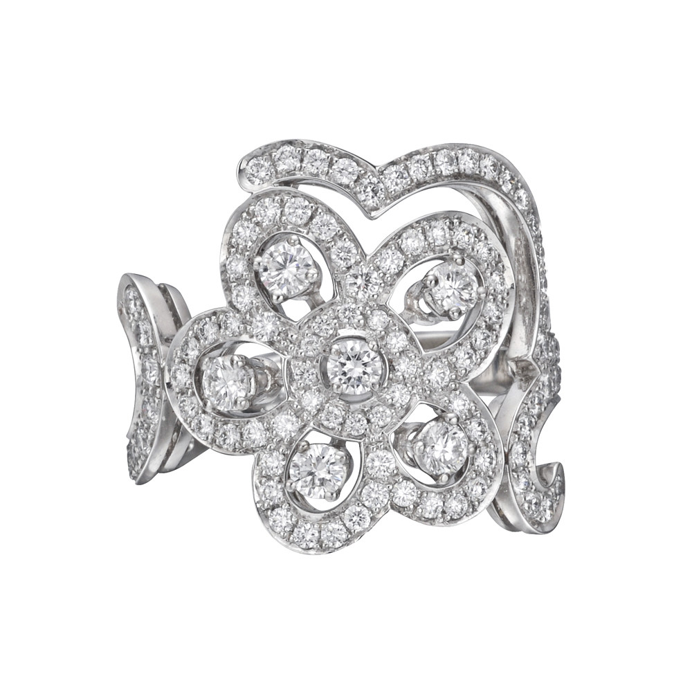 "Diamond ""Dentelle"" Ring"