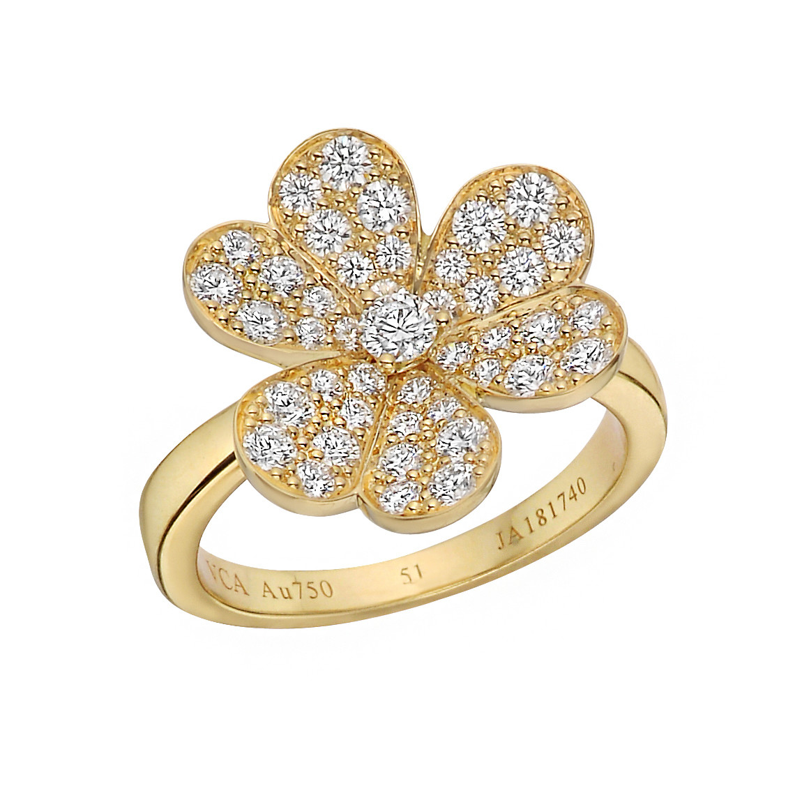 "18k Yellow Gold & Diamond ""Frivole"" Ring"