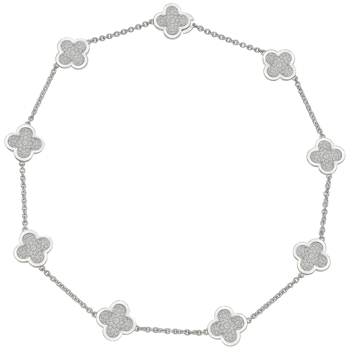"Pavé Diamond ""Pure Alhambra"" Necklace"