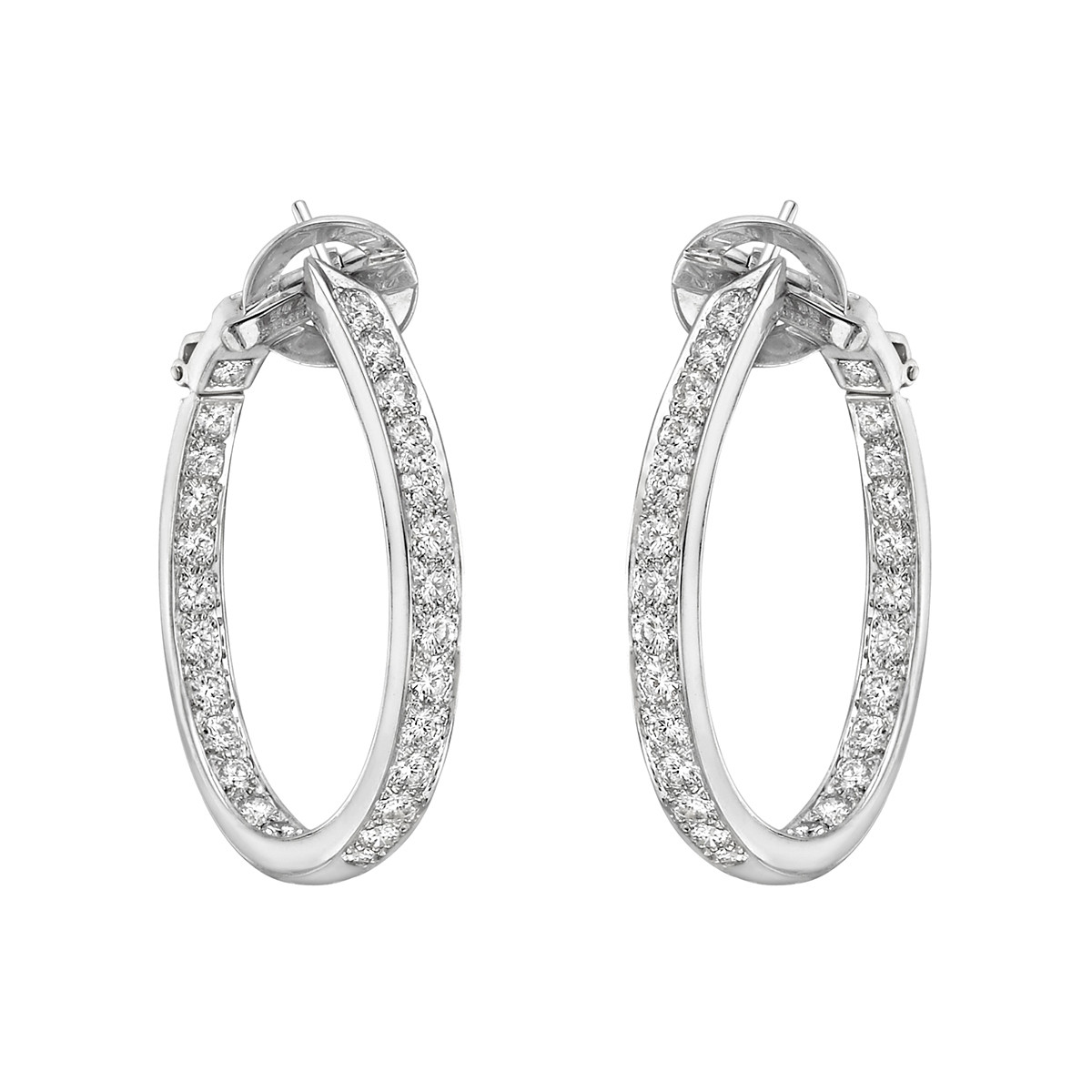 silver earrings twist of hoop oval dust gems hoops gold diamond shape sterling