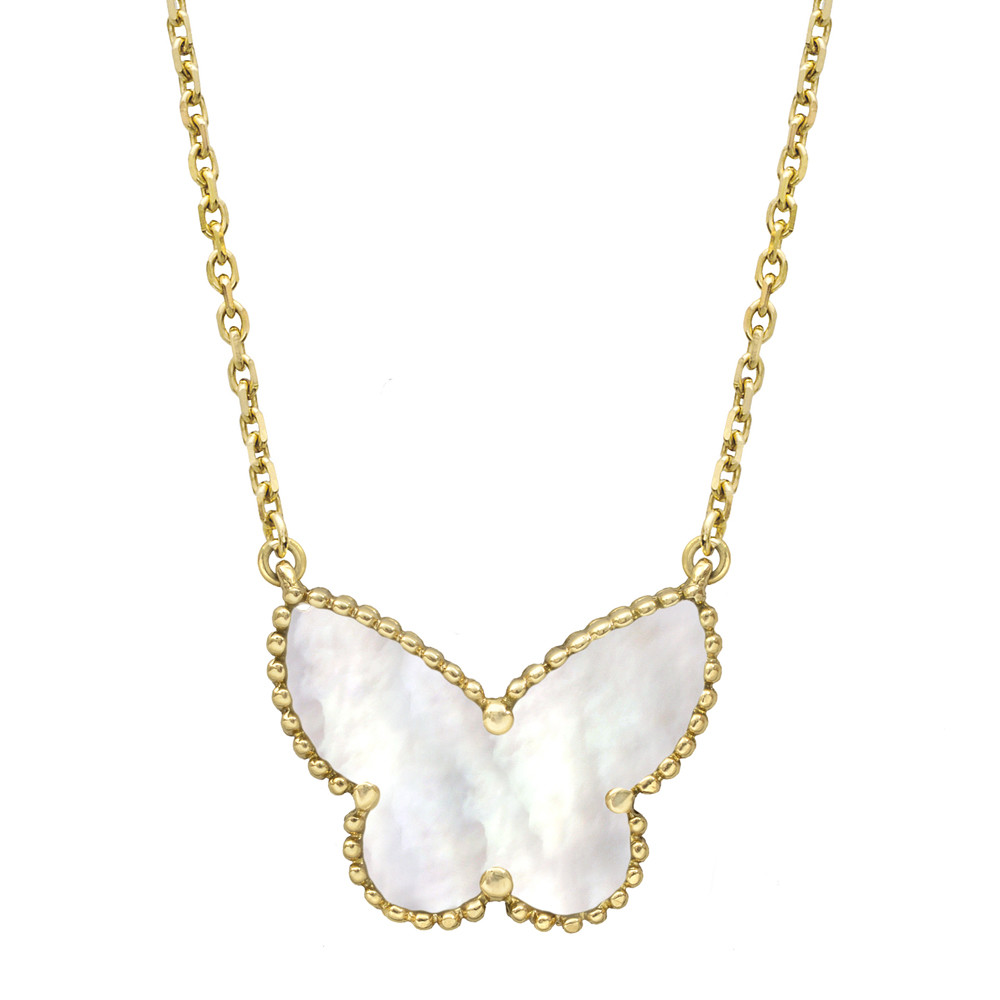 Van Cleef & Arpels Lucky Alhambra Butterfly Pendant On