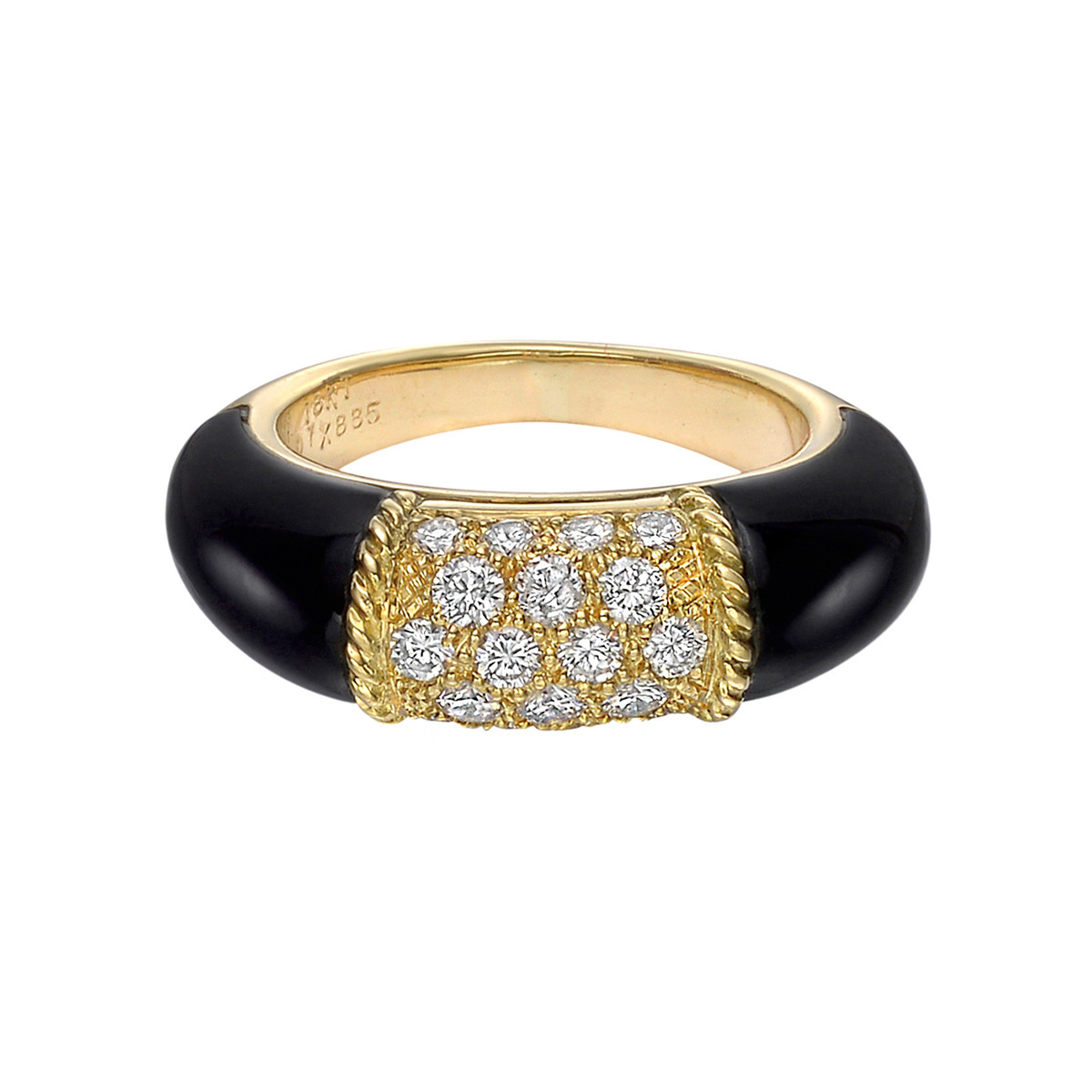 "Black Onyx & Diamond ""Philippine"" Ring"